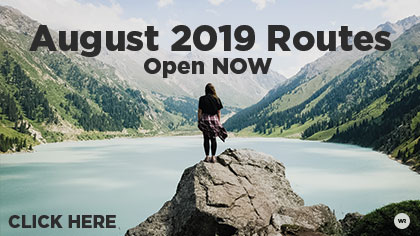 August 2019 Routes are Here