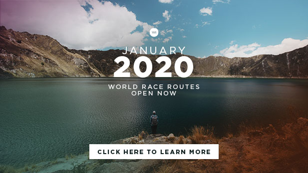 January 2020 World Race Routes Open Now